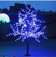 ingrosso ha condotto l'albero artificiale della ciliegia chiara-1.5 m / 5ft altezza albero di Natale artificiale all'aperto LED Cherry Blossom Tree Light 1150pcs LED dritto tronco d'albero Spedizione gratuita LED Light Tre