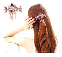 Wholesale Hair Style Korea - Fashion Wedding hair accessories Hair clip Hair Barrettes for hair women girl Korea flower Style Hair Accessories free shipping
