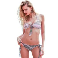 Wholesale Crochet Set Handmade - Sexy Handmade Crochet Bikini 2017 Summer Beachwear Brazilian Bikini Set Swimwear Women Swimsuit Bathing Suit Swim XL