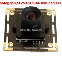 Wholesale Ccd Pcb Camera - 5Megapixel 2592x1944 Surveillance camera PCB board Aptina MI5100 CMOS high quality CCTV mini micro usb camera module 5mp