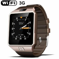 Wholesale Waterproof Watch Phone Wifi - Free shipping Bluetooth4.0 3G WIFI QW09 Android Smart Watch Real-pedometer SIM card Call Wrist Wear Anti-lost Smartwatch Phone