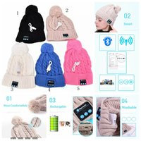 Wholesale Acrylic Mobile - Bluetooth Hat Music Beanie Cap Bluetooth Stereo wireless earphone Speaker Microphone Handsfree For Smart Mobile Phone Music Hat YYA575