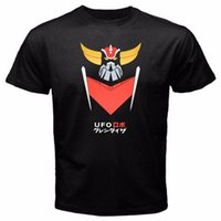 Wholesale Machine Prints Shirts - Design Your Own T Shirt Crew Neck Short-Sleeve Printing Machine Grendizer G5 Anime Robot Series T Shirts For Men