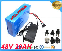 Wholesale Electric Kit 48v - ebike lithium battery 48v 20ah lithium ion bicycle 48v 1000w electric scooter battery for kit electric bike with BMS , Charger