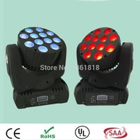 Wholesale Full Moving - (2pcs lot) New beam 12x12w rgbw spot led moving head light full colors stage spots light good for ktv wedding