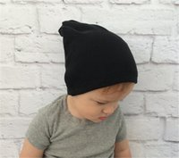 Wholesale Crochet Beanie Hat Ears - Fashion Newborn Baby Hat Cotton Kids Crochet Hats Knitting Warm Caps Earflap Spring Autumn Winter Ear Warmer Lovely Baby Beanies BH13