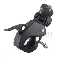 Wholesale Bicycle Handlebar Clamps - Wholesale- Bicycle Bike Motorcycle Handlebar Support Clamp Mount Fits for DV Digital Camera G7X RX100 G1X Mark II 265 HS G16 G12