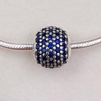 frieden perlen großhandel-Frieden Essenz Charms aus 925 Sterling Silber Fit europäischen Stil Marke Armbänder Halsketten ALE 796060NCB Perlen für Schmuck machen