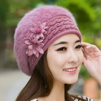 Wholesale Mink Fur Hats Women - Brand New mink and fox fur ball cap pom poms winter hat for women girl 's hat knitted beanies cap brand new thick female cap Free Shipping