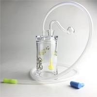 pipes à fumer en acrylique achat en gros de-Nouveaux tuyaux en plastique en plastique détachable d'huile de bec de bong avec 10mm Tube en paille de silicone de brûleur à huile mâle pour fumer