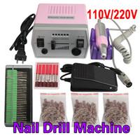 Wholesale Pro Tool Nail Drill Machine - Wholesale- New Professional Nail Art Tool Pro 220V Electric Manicure Machine Set Drill File Kit Pedicure Polish Shape Tool HB88