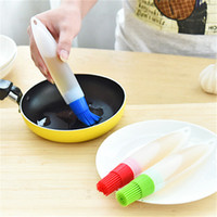 Wholesale Butter Spoon - 1 pc Silicone Baking Brush Liquid Oil Pen Cake Butter Bread Pastry Brush Baking Tool BBQ Utensil Safety Basting Brush