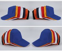Wholesale Advertising Caps - 100PCS LOT Hot Selling Wholesale Cheap Pure Color Working Cap Tourism Advertising Cap Baseball Male And Female Adult Children Outdoor Cap