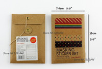 Wholesale Books Label - Wholesale- 2016 27 pcs Washi Scrapbooking Masking Tape Sticker Envelope Set For Dairy Book Stationery Labelling Tags