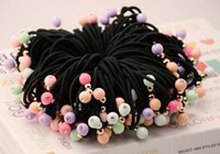 Wholesale Thick Black Hair Bands - High and Thick Elastic Head Tie Cute Fruit Color Hair Band Rubber Band Girls Hair Accessories for Women Headwear Mixed Color