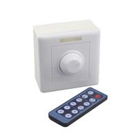 işık düğmeleri toptan satış-12 V LED şerit Dimmer Kızılötesi 12-Key Topuzu PWM LED Dimmer12V ~ 24 V Dimmerler 8A LED aydınlatma