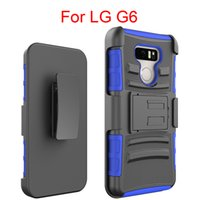 Wholesale Browning Swivel - Armor Case For LG G6 LG Stylo 3 LG G3 V10 Three Layer Protector 360 Degrees Belt Swivel Clip Holster (12 Colors)