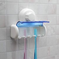 Wholesale Spinbrush Suction Holder - Suction Cup Wall Mount Bathroom 5 Hooks Toothbrush SpinBrush Rack Stand Holder
