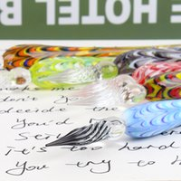 Wholesale Clear Top Gift Boxes Wholesale - Wholesale- Fashion Creative Office school Supplies Crystal Dip Pen Glass Signature Pen handmade Gifts Present box top grade cool fancy XM