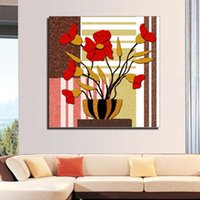 Wholesale Cheap Modern Canvas Artwork - Prints modern abstract flowers ink painting on canvas art cheap home decoration artwork pictures