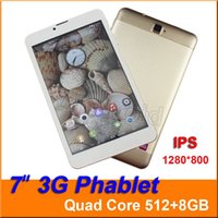 """Wholesale Tablet Gps Sim Free Gsm - 7"""" 3G Phablet Phone Calling Tablet PC SC7730 Quad Core Android 5.1 IPS 1280*800 WCDMA GSM Bluetooth Camera Dual Sim Card Free Shipping"""