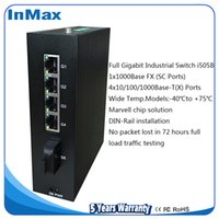 Wholesale 5 Ports Full Gigabit Industrial network Switch with BaseT X ports and BaseX port