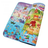 Wholesale Foam Thickness - Wholesale- Double Side Sea World Happy Farm Baby Play Mats Infant Crawling Playing Rugs Toddler Gym Carpets Children Picnic 5MM Thickness