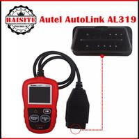 Wholesale Original Car Scan Tool - Free shipping original New Autel AutoLink AL319 Auto OBD2 Scanner Car OBD 2 II Code Reader Scan AL-319 Diagnostic Tool