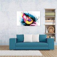 Wholesale Modern Art Painting Women Figure - Modern Art Oil Paintings Abstract Beauty Woman Face on Canvas Art Unframed for Home Decor