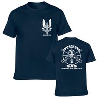 Wholesale Green Printing Services - SAS Special Air Service British Army Special Forces Sniper T shirt Men's 100% Cotton Short Sleeve Summer T-Shirt Adlut Top Tee