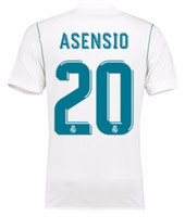 Wholesale Cheap Discounted Football Jerseys - 1718 Real Madrid TOP Thai Quality Marco Asensio Customized Soccer Jerseys Discount Cheap Football Jerseys BENZEMA RONALDO Football Shirts