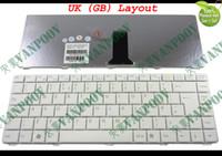 teclado pcg venda por atacado-Teclado do laptop para Sony VGN-NR VGN-NS PCG-7151M PCG-7153M PCG-7154M PCG-7151M Série PCG-7161M Branco UK (GB) Versão - V072078AK2
