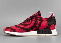 Wholesale Running Kicks - 2017 Original R1 NMD RUNNER PK Primeknit Mission Nice kicks Boost Spider-Man Sneaker Men's & Women's Lover's Running Sport Shoes