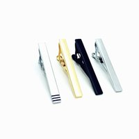Wholesale Brass Bars - weeding gift 4PCS  Set Fashion Classic Men Tie Pins Black & Silver&gold Plated Mix Design 2.2 Inch Men Tie Bar