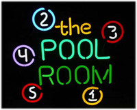 Wholesale Neon Pool Balls - Fashion New Handcraft POOL ROOM 8 BALL BILLIARDS Real Glass Tubes Beer Bar Pub Display neon sign 19x15!!!Best Offer!