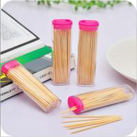 ingrosso portabiti in tasca-Stuzzicadenti di bambù con Pocket Fashion Accendino a forma di stuzzicadenti a forma di scatola di stuzzicadenti creativa romantica Porta portatile Carry Spedizione gratuita