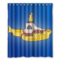 Wholesale Yellow Submarine Pattern Waterproof Bathroom Curtain Waterproof Polyester Fabric Shower Curtains x180cm Curtain
