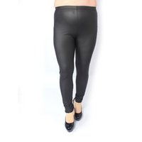 Wholesale Wholesale Priced Jeggings - Wholesale- Screaming retail price Sexy Women Plus Size High Waist Stretch Jeggings Faux Leather Leggings Pants E53