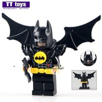 Wholesale Batman Batwing - WholeSale 20pcs Batman Movie Batman with Black Wing Batwing Justice League SUPER HEROES Minifigures Assemble Building Blocks Kids Gifts Toys