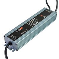 водонепроницаемый источник питания драйвера оптовых-SANPU Ultra Thin Power Supply Водонепроницаемый IP67 12V 24V 200W AC-DC Освещение Трансформатор Светодиодный драйвер Алюминий для светодиодов Полосы Светильники