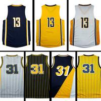 Wholesale Men Wearing Purple Shirts - Top quality #13 PG Jerseys #31 RM Basketball Jersey Men Sports wear embroidered Logos Cheap sports shirts