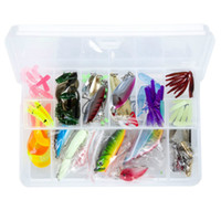 Wholesale Lures Bionic Lures Sequin Mino Soft Bait Sets Metal Soft Hard Bait Plastic Hooks Box Packaging