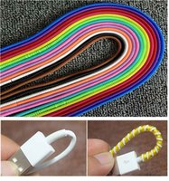 Wholesale Charging Cord Color - Cord Winder Single Color Plastic Spiral Cord Protector Wrap Cable Winder Holder For USB Charging Earphone Cable, 50cm