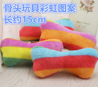 Wholesale Quality Dog Toys Wholesale - High Quality Pet Bones Chewing Toy Dog Sound Toys Rainbow Leopard Pattern 2 Kinds Of Color Toys