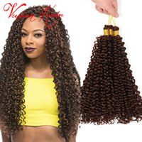 Wholesale Synthetic Water Wave - Synthetic Braiding Hair Curly Weave 14inches 30roots pack Crochet Hair Extension Freetress Synthetic Water Wave Bulk Hair Crochet Braids