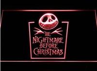 ingrosso artigianato decorativo di natale-Incubo prima di Natale birra bar 3d segni culb pub led luce al neon segno casa arredamento artigianato