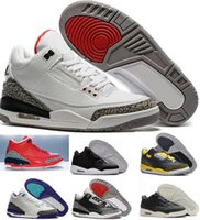 Wholesale Buy Thread - New Retro 3 Basketball Shoes Sports Replicas Authentic Man Sneakers Buy Aires Fashion Men Women Retro Shoes 3s III Shoes Sale
