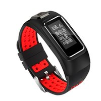 Wholesale Outdoor Gps Watches - 2017 New 0.96 inch OLED Large Screen GPS Smart Band IP68 Waterproof Bluetooth Wrist Band Watch Outdoor Waterproof Bracelet