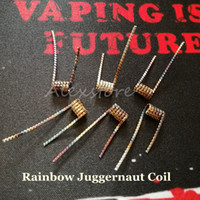 Wholesale Wholesale Pp Bags - Rainbow Juggernaut Prebuilt Coil Wire 0.45ohm 6pcs Coils in One PP Bag Premade Wrap Howing Wires Heating Resistance for Vape RDA Vaporizer