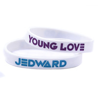 Wholesale young bracelet resale online - 100PCS JEDWARD Young Love Silicone Bracelet Great To Used In Any Benefits Gift For Music Fans